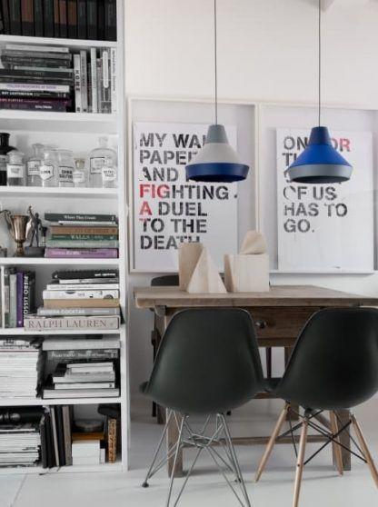 2 lampy wiszące nad stół w stylu nowoczesnym