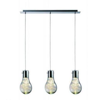 3 wiszące żarówki - lampy nowoczesne potrójne