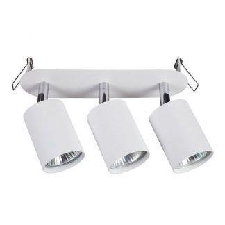 biała lampa sufitowa regulowane reflektory