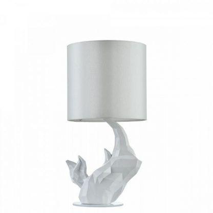 abażur okrągły - rzeźbiona podstawa lampy stołowej