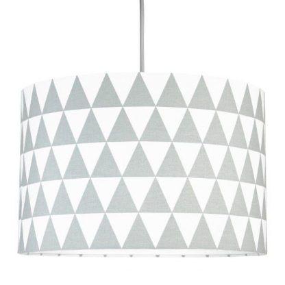 abażur w lampie wiszącej do pokoju dziecięcego - trójkąty