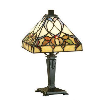 alcea lampa stołowa z witrażowym kloszem