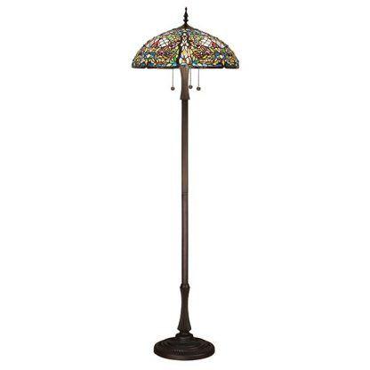 anderson witrażowa lampa podłogowa kwiaty