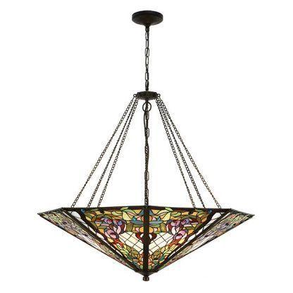 anderson witrażowa lampa wisząca duży klosz