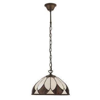 aragon brązowa lampa wisząca witrażowa do kuchni