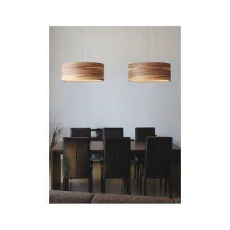 aranżacja lamp wiszących w jadalni - drewno i orzech