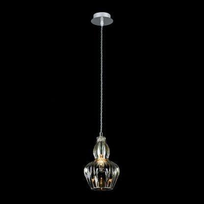 aranżacja lampy glamour wiszacej - klosz kryształ