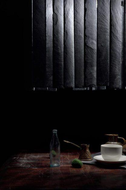 aranżacja lampy nad stół - czarna harmonijka