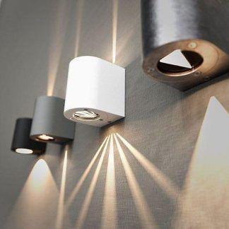 aranzacja oświetlenia zewnętrznego - kinkiety nowoczesne