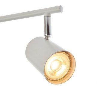 arezzo lampa sufitowa biało-srebrne reflektorki