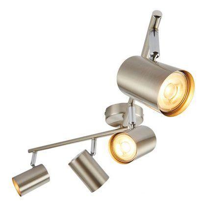 arezzo srebrna lampa sufitowa z reflektorami