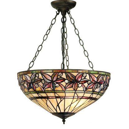 ashtead lampa sufitowa z witrażowym kloszem