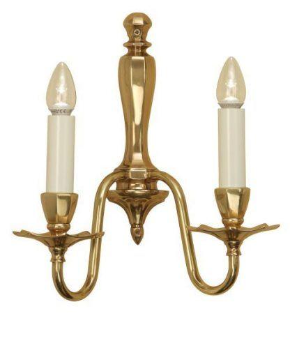 asquith podwójny złoty kinkiet świecznikowy