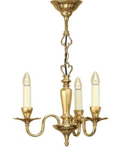 asquith świecznikowy żyrandol na 3 żarówki złoty