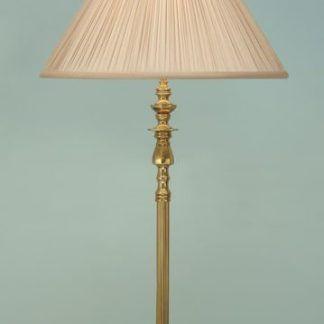 asquith złota lampa podłogowa na błękitnym tle