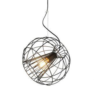 ażurowa druciana lampa wisząca czarna do nowoczesnego salonu
