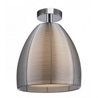 ażurowa lampa sufitowa nowoczesna z abażurem w środku