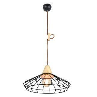 ażurowa lampa wisząca druciana z miedzią
