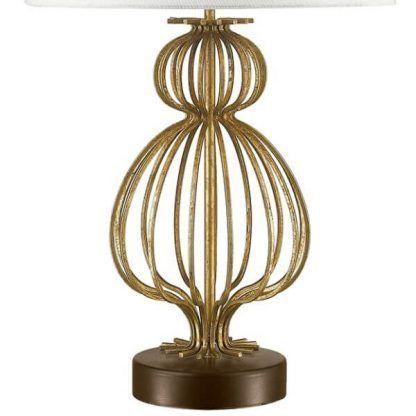 Ażurowa metalowa podstawa lampy do sypialni