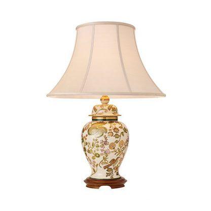 bake lampa stołowa w kwiaty z abażurem