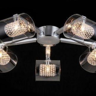 Bardzo elegancka lampa sufitowa z kryształami