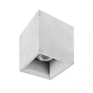 betonowa lampa sufitowa kwadratowe oczko