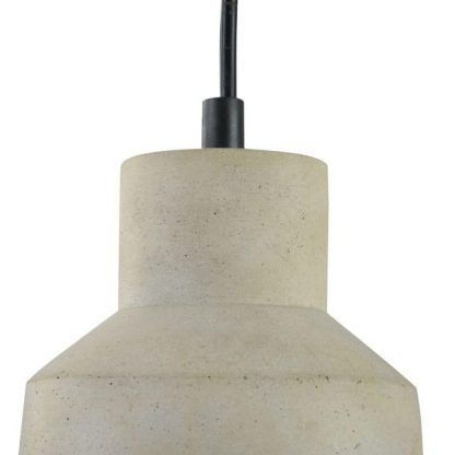 betonowa lampa wisząca do sypialni