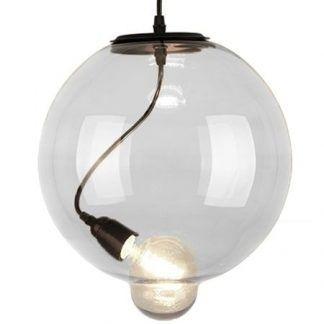 bezbarwna lampa wisząca szklana kula