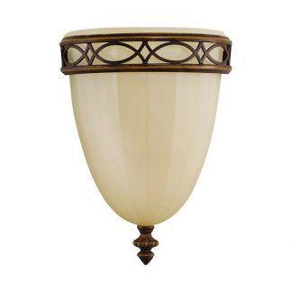 Beżowa szklana lampa ścienna do sypialni