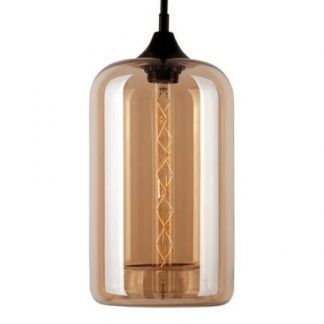 beżowa szklana lampa wisząca do kuchni