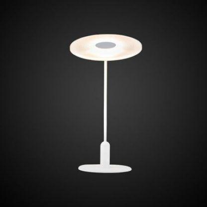 biała designerska lampa stołowa do salonu