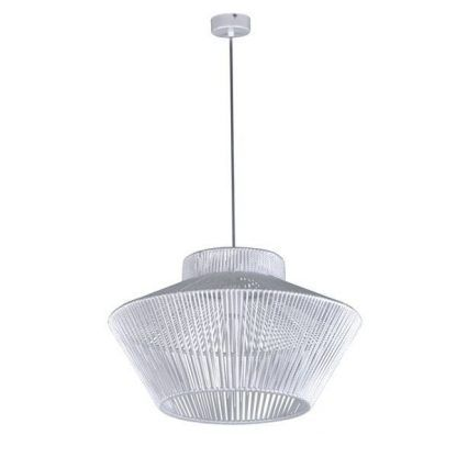 Biała druciana lampa wisząca do salonu