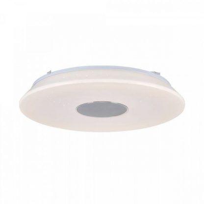 biała lampa i głośnik w jednym - plafon do łazienki
