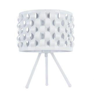 biała lampa stołowa nowoczesna dla nastolatka