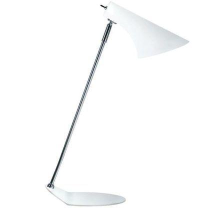 Biała lampa stołowa - nowoczesna - lekki wygląd