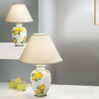 biała lampa stołowa w cytryny klasyczny styl