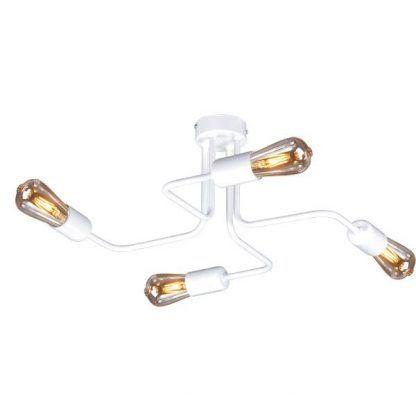 biała lampa sufitowa do przedpokoju metalowa
