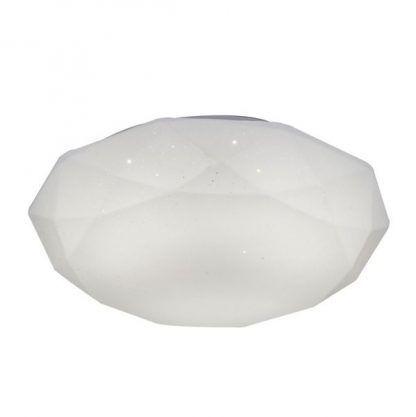 biała lampa sufitowa kształt kryształu połyskująca