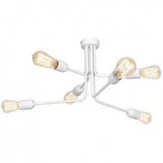 biała lampa sufitowa nowoczesna metalowa