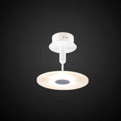 biała lampa sufitowa nowoczesny design