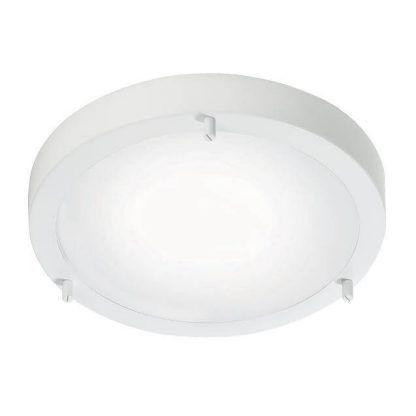 Biała lampa sufitowa z panelem LED