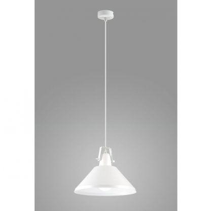 biała lampa wisząca do kuchni