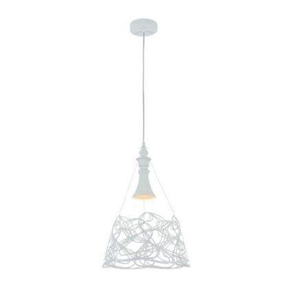 biała lampa wisząca do prowansalskiego salonu