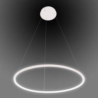 biała lampa wisząca led nowoczesna do sypialni