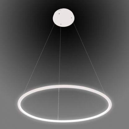 biała lampa wisząca led okrąg nowoczesna