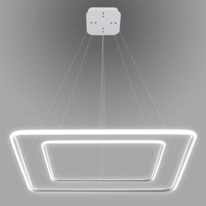 biała lampa wisząca ledowe kwadraty do salonu