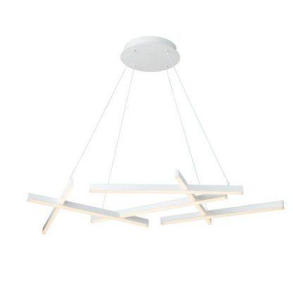 biała lampa wisząca listwy led nowoczesna
