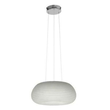 biała lampa wisząca nowoczesna owalny klosz