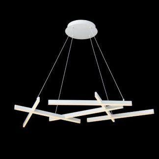 biała lampa wisząca nowoczesny design led