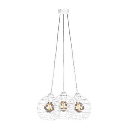 biała lampa wisząca scandi druciane klosze kule
